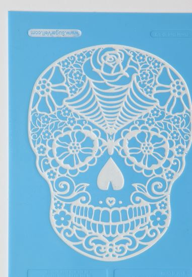 Picture of SugarVeil Flower Skull Mat